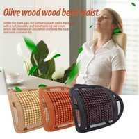 Seat Cushions Car Chair Mesh Support Breathable Comfortable Leather Wooden Bead Waist Automotive Interior Supplies