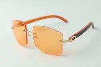 2021 más reciente estilo diseñadores de gama alta gafas de sol 3524022, lente de corte de alta calidad TEMPLOS DE MADERA HYBRIDES NATURALES NATURALES VESOS, TAMAÑO: 58-18-135MM