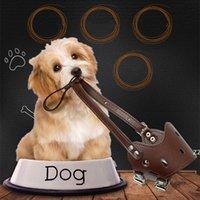 Hunde Mundabdeckung PU-Leder Anti-Biss- und Anti-Essen-Haustierhunde Rindenstopperabdeckungen HWF10877