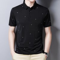 남자 폴로스 YMWMHU 2021 남자 셔츠 짧은 소매 그래픽 인쇄 된 여름 패션 비즈니스 사무실 의류 브랜드