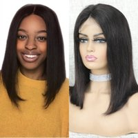 Brazilian Straight Bob Wig Short Human Hair 4x4 Lace Closure Wigs for Black Women 8-16 Inch Pre Plucked 150% Density