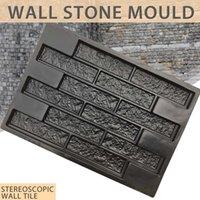 플라스틱 금형 벽 콘크리트 석고 가든 하우스 벽 돌 타일 스톤 몰드 시멘트 벽돌 메이커 금형 69 * 49cm 장식
