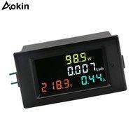 Интегрированные схемы AC 80-300V 100A 4 в 1 Цифровой ЖК-вольт AMP WATENEGY Метр Вольтметр амперметр с током трансформаторной мощности