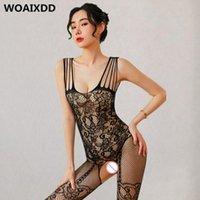 Sexy Boodstocking Femmes Costumes Lingerie Erotique FishNet Sans BabyDoll BabyDoll BodySuits Nightwear Catsuit Porn Porn Teddy Bas