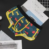 Underpants Men Autumn Winter Cotton Boxers Breathable Mid-Waist Fashion Arrow Pants Briefs Funny Gays Clothes Sissy Inmitate Male Lingerie