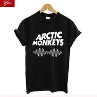 Geldi Arctic Monkeys T Gömlek Kadın Pamuk Streetwear Vintage Tshirt Harajuku Hip Hop Tee Temel Tişört Hipster 210702