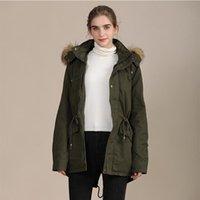 Liva Girl Winter Women Coat 2021 Women's Parka Casual Outwear Military Hooded Fur Down Jackets For Female