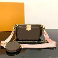 3-delige set luxurys moeten mode tas tas portemonnee crossbody tassen kleine ketting portemonnee designer bags cosmetische tas