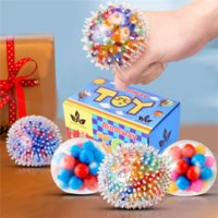 DHL Free Stress Relief Balls Toys Squeeze Balls Toys Rainbow Ball Sensory Toy for Stress-Relief Tension Home Travel and Office Use WHT0228