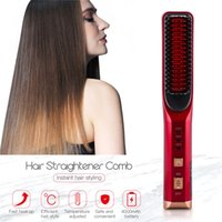 3D Profissional Cordless Hair Straightener Comb Rechargeable Hair Curler Brush Fast Hot Electric Hair Straightening Iron Styling