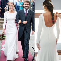 Elegant Long Sleeves Wedding Dresses Mermaid Backless Sweep Train Custom Made Bridal Gowns Plus Size Vestido De Noiva