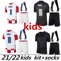 European 2021 Mandzukic Soccer Jerseys 2022 Modric Perisic Kalinic Camicia da calcio 20 21 Rakitic Kovacic Mens Kit Kit Kit uniformi