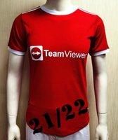 Игрок версии 2021 2022 # 6 Pogba Unit Home Красные футбольные трикотажные изделия 22 Новый сезон Футбольные рубашки 2019 Футбольная форма в продаже