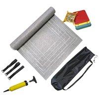 Tissu de feutre Multifunction Board Jeux de rangement Jigsaw Rouleau Tapis de stockage anti-fuite avec tube gonflable Compact Kids Soft Soft Soft Soft Soft