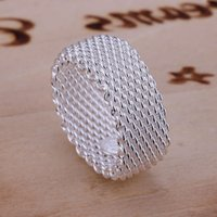 sale network sterling silver plated ring GR040,women's 925 silver Band Rings