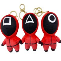 Party Supplies Squid Game New Plush Toy Pendant Doll Keychain Bag Ornaments High Quality PP Cotton Filling Festive Gife