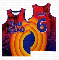 2021 NCAA Movie Space Jam Tune Squad LeBron 6 James Basketball Jersey 23 Michael Blue! TAZ 1 Bugs 1/3 Tweety 10 Lola 7 R.Runner
