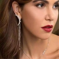 Fashion Asymmetry Pearl Dangle Earring for Women Personality Long Style Tassel Earrings Outdoor Vacation Party Ear Drop