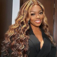 Lace Wigs 30 32 Inch 13x4 Front Human Hair Ombre Hightlight Body Wave Honey Blonde Pre Plucked Remy 4x4 5x5 Hd Closure Wig