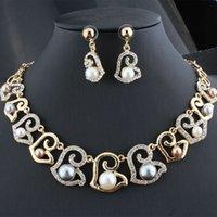 Perle strass doré treillis d'emballage indépendant exquis pour femmes
