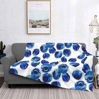 Одеяла Blueberry Art Creative Design Удобное Фланелевое Одеяло Синие Фрукты Сад Винтаж Красивый Лето Прохладный Дизайнер