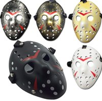 Retro Jason Mask Horror Funny Full FaceMask Bronze Halloween Cosplay Costume Masquerade Masks Scary Hockey Party Supplies SN2251