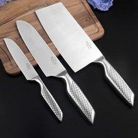 Cuchillos de cocina japonesa de acero inoxidable Juego de cuchillos, herramientas de la utilidad de la fruta Chef cortando pan Santoku Cuchillo de cocina Set