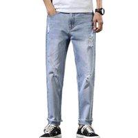 Männer Koreanische Trend Jeans Frühlings- und Sommermodelle zerrissene Untersaison Wilde Denim Hose Leichte Hosen Fundament Männer