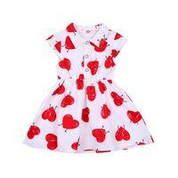 Girl's Dresses 2-7Y Princess Toddler Kid Child Girl Tutu Dress Heart Print Party Wedding Birthday Valentines Day For Girls