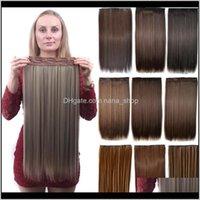 Clipe em / em produtos entrega de gota 2021 24 polegadas clipll em extensões de cabelo sintético trama 120g 40 cores simulação cabelo humano pacotes MR-5S