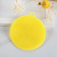 Silikon Çanak Kase Temizleme Fırçası İşlevli 5 Renkler Souring Ped Pot Pan Yıkama Fırçalar Temizleyici Mutfak Yıkama Aracı EEB6446