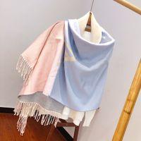 Gradient cashmere scarf size 60-190cm Designer shawl luxury ladies accessories to keep warm winter 081148