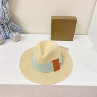 Hombres calientes Mujeres Sombreros de paja Moda de alta calidad Clásico Respirable Sombrero plano Sombrero Amplificado Casual Resistente al sol Decorativo Jazz Fedoras