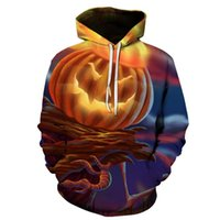 Men's Hoodies & Sweatshirts Sports And Leisure 3D Printing Halloween Pumpkin Lantern Hoodie Men Women Daily All-match Trend Top XXS-4XL