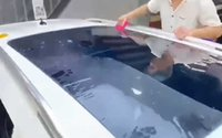 Window Stickers Car Roof Film Blue Skylight Membrane Decoration Panoramic Sunroof Foils Solar Ultraviolet Protection TPU