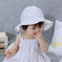 Verano transpirable bebé sol sombrero lindo flor bebé niña sombrero de playa niños al aire libre niños niños tapa hueco bebé bebé gorras 1861 Z2