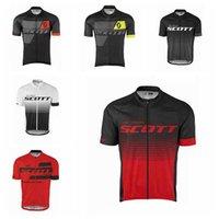 Scott Team Cycling Jerseys Mangas cortas Camisas de ciclismo de verano Ropa de ciclismo Ropa de bicicleta Use cómodos camisetas transpirables