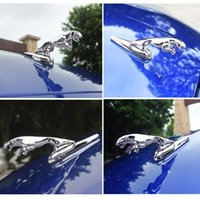 Katı Metal Alaşım Jaguar Rozeti Sticker Panter Leopar Izgara Ön Hood Amblem XF XFL XFR XJ XJ6 XK S F Tipi