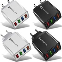5.1A High Speed Eu US 4 USB Port Wall Charger Auto Power Adapter Plug For Iphone Samsung Android phone PC mp3