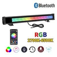 Wall Waschmaschine Outdoor Light Bluetooth wasserdicht 36W Farbe wechseln Flut RGB für Partygarten Bühnenbeleuchtung Scheinwerfer