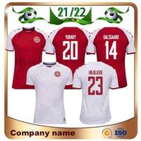2021 Dinamarca Soccer Jersey 21/22 Eriksen Skov Højbjerg Braithwaite Yury Football Shirts Dalsgaard Delaney Djkfg Uniforme de equipo nacional