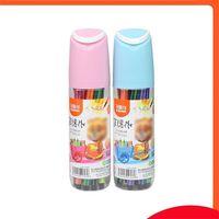 12 Pcs Washable Large Capacity Watercolor Pen Children Set Multicolor Creative Stationery Baby Brush Painting