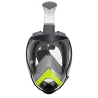 1pc masque de plongée en plein visage pour adultes anti-brouillard et masques de plongée de plongée de plongée en apnée anti-fuite