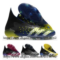 حقيبة الهدايا رجالي أحذية كرة القدم عالية الكاحل المفترس غريب + FG المرابط غير معدل المدربين بوجبا 21 أحذية كرة القدم في الهواء الطلق