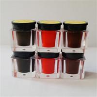 الكورية الحاجب دليل ماكياج لصق شبه دائم الوشم الطبيعي الحبر ممارسة الصباغ أسود اللون الأحمر القهوة لاختيار