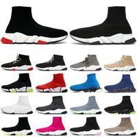 2021 sock shoes Socke Luxus Designer Schuhe Männer Frauen Mode Turnschuhe Jahrgang triple schwarz glitzern gelb blau rosa Graffiti Mode Herren Trainer Läufer