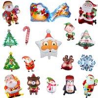 Счастливого Рождество фольга фольга шары снеговика Санта-Клаус олень рождественская елка украшения рождественской вечеринки поставляет globos fy4821