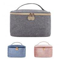 Storage Bags 1 Pcs Retro Women Cosmetic Bag Zipper Gold Star Velvet Makeup Soft Female Travel Make Up Pouch Beauty Case