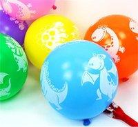 Dinosaurio impreso Globo Latex 12 pulgadas Globos de colores Favoritos Favoritos de la fiesta de bienvenida al bebé Decoraciones de la fiesta de cumpleaños Suministros de la fiesta de cumpleaños Niños Regalos GWA5268