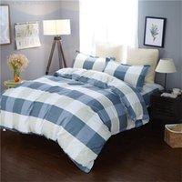 Bedding Sets Geometric Lattice 4 Piece Bedclothes Set Adult And Children Down Duvet Cover Sheet Pillowcase Home Textile